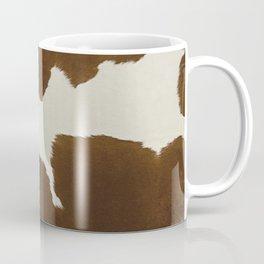 Dark Brown & White Cow Hide Coffee Mug