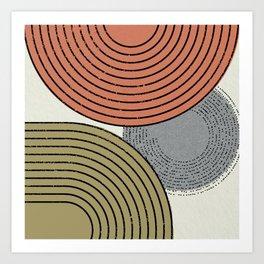 Retro Minimalist Design Art Print