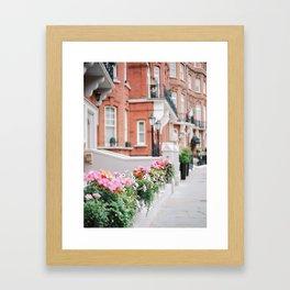 Kensington & Chelsea fence Framed Art Print