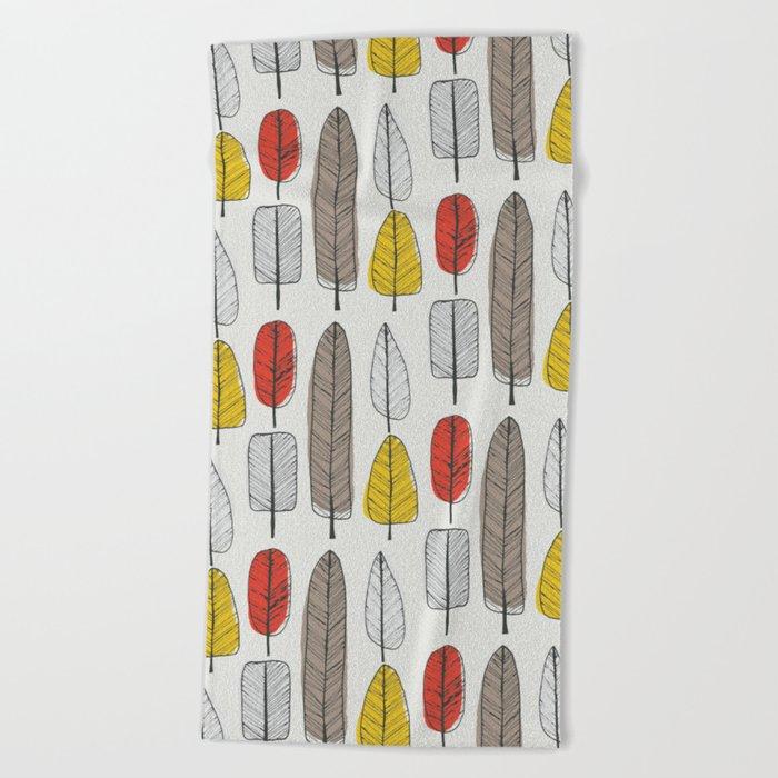 Leaf Pattern Beach Towel