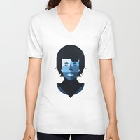 bob dylan V-neck T-shirts featuring Bob Dylan by rubenmontero