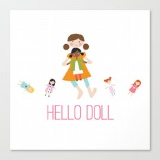 HELLO DOLL 2 Canvas Print