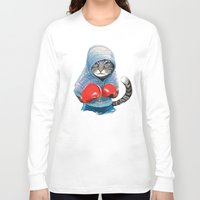 jazzberry Long Sleeve T-shirts featuring Boxing Cat by Tummeow