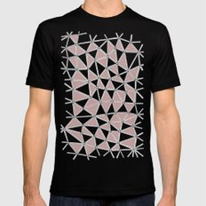 Seg African Grey and Pink Black MEDIUM Mens Fitted Tee