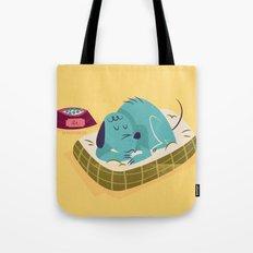 :::Sleeping pet dog::: Tote Bag