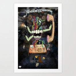 Blackhand (color) Art Print