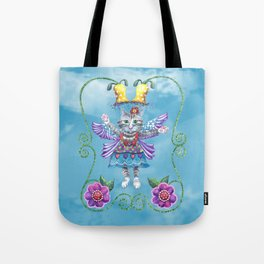 Angel Kitty (Turquoise) Tote Bag