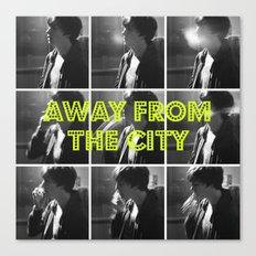 AWAY FROM THE CITY Canvas Print