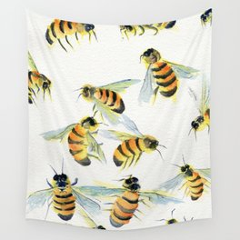 All About Bees Wall Tapestry