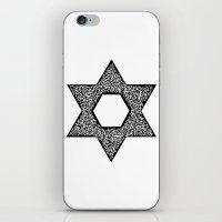 jewish iPhone & iPod Skins featuring Star of David (Jewish star) by ZannArt Originals
