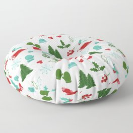 Winter Wonderland - Blue Floor Pillow