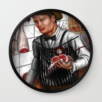 hannibal Wall Clocks featuring HANNIBAL by Gart Graphisme