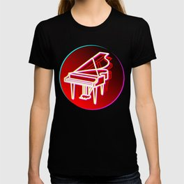 Grand Piano Retro 70s 80s Clavier Pianist Gift T-shirt