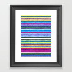 Yellow Stripes Framed Art Print