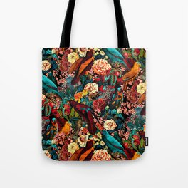FLORAL AND BIRDS XVII Tote Bag