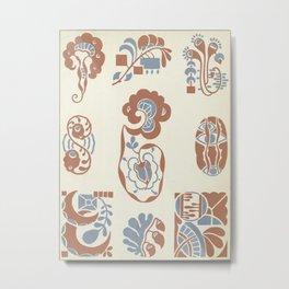 vintage pattern design Metal Print
