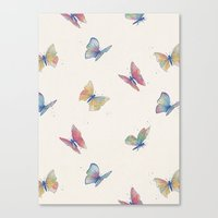 butterflies Canvas Prints featuring Butterflies by Tracie Andrews