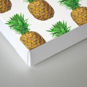 Pineapples, tropical fruit pattern design Canvas Print