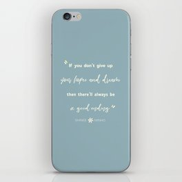 SHINEE Minho Quote iPhone Skin