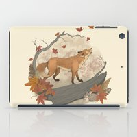 rabbit iPad Cases featuring Fox and rabbit by Laura Graves