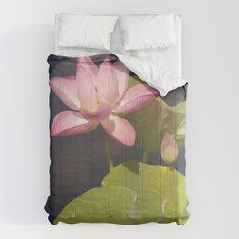 Pink Lotus by Teresa Thompson Comforters