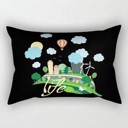 Eco Life Rectangular Pillow