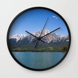 Pyramid Mountain at Pyramid Lake Wall Clock