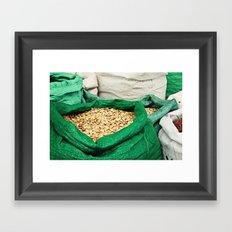 Pumpkin Seeds at the Market Framed Art Print