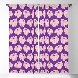 Pink Dahlia Flower Illustrated Print Blackout Curtain