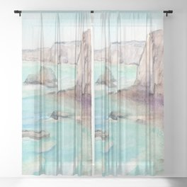 Cliffs at Normandie WC160404c-11 Sheer Curtain