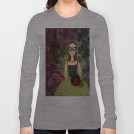 Green Gowned Masquerade Lady Long Sleeve T-shirt