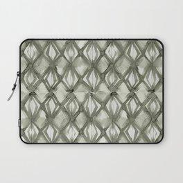 Braided Diamond Simply Green Tea on Lunar Gray Laptop Sleeve