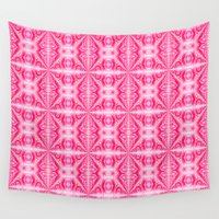 hot pink Wall Tapestries featuring Summer in Hot Pink by naturessol