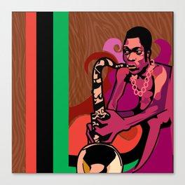 Black President Canvas Print