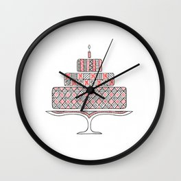 Patterned Cake Wall Clock