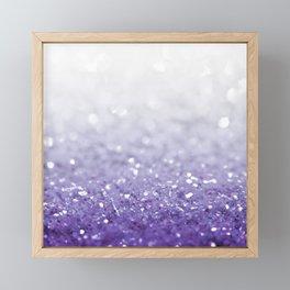 MERMAIDIANS PURPLE GLITTER Framed Mini Art Print