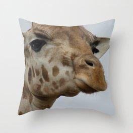 Giraffe Looking Down Throw Pillow