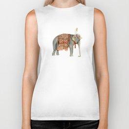 Riding Elephant Biker Tank