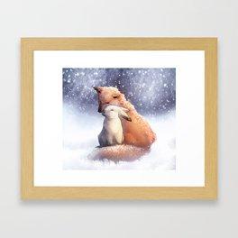 Keep Me Warm Framed Art Print