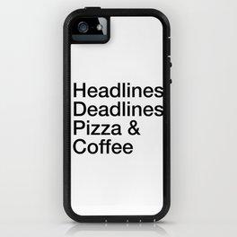 Headlines Deadlines Pizza Coffee iPhone Case