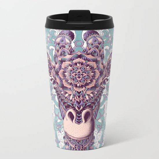 Giraffe (Color Version) Metal Travel Mug