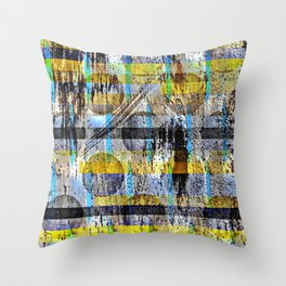 ABSTRACT/LIPSTICK ON A PIG Throw Pillow