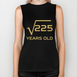 Square Root Of 225 Funny 15 Years Old 15th Birthday Biker Tank