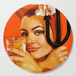 Vodka Martini, A devilishly dry proposition Vintage Pitchfork - Devil Advertisement Poster Cutting Board