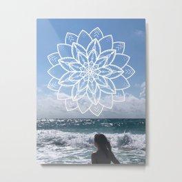 Mandala sky Metal Print
