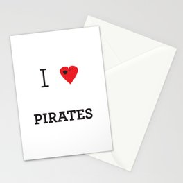 I heart Pirates Stationery Cards