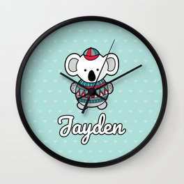 Custom Koala Jayden Wall Clock