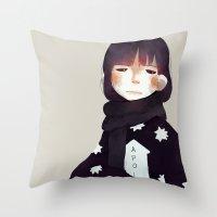 apollo Throw Pillows featuring Apollo by oyyro