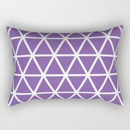 Purple Triangle Pattern 3 Rectangular Pillow