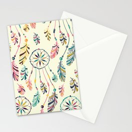 Boho Dreamcatcher Pattern Stationery Cards